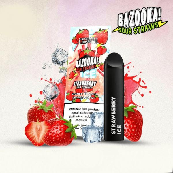 bazooka strawberry ice disposable