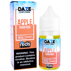 reds apple Peach iced saltnic