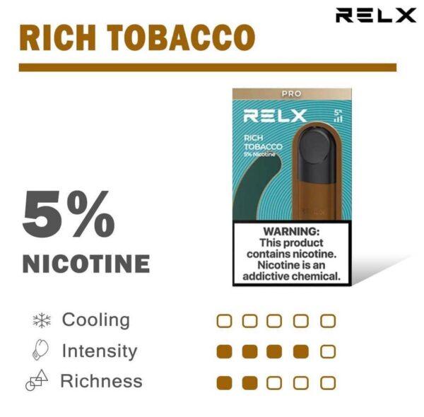 relx pod pro rich tobacco