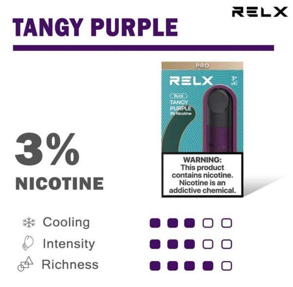 relx pod pro tangy purple